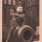Louis Barker Jaques (1911-1997), 5 years old, Ontario Legislative Building, Toronto (1916)