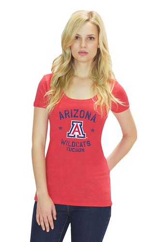 Women's Red University of Arizona T Shirt