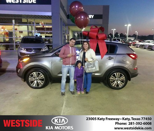 Thank you to Laura Palacios on your new 2014 #Kia #Sportage from Rubel Chowdhury and everyone at Westside Kia! by Westside KIA