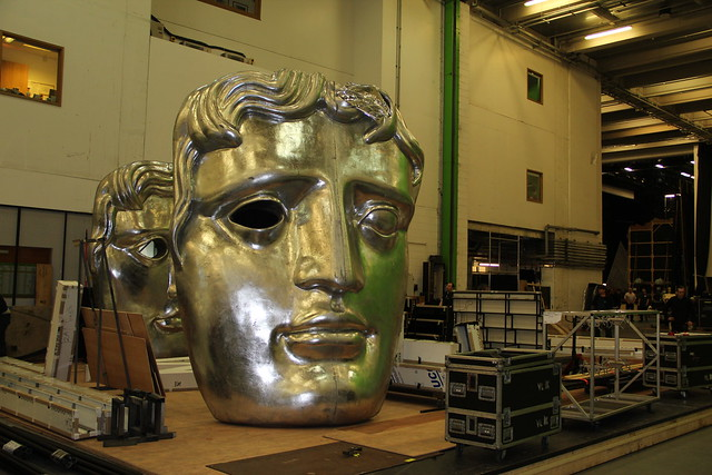Preparations for the BAFTA Film Awards ceremony 2014 © ROH / Lottie Butler 2014