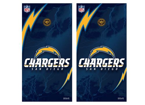 San Diego Chargers Cornhole Game Decal Set