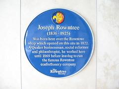 Photo of Joseph Rowntree blue plaque