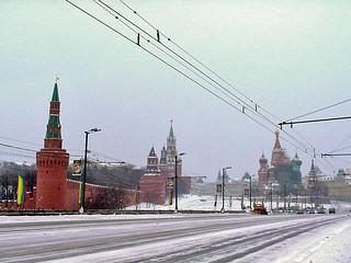 Kremlin & St Basils from Bol Moskvoretsky Most