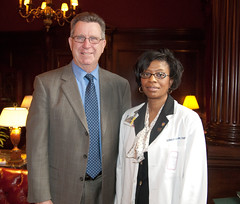 Senator Thomas M. Middleton and Student Sonia Brown