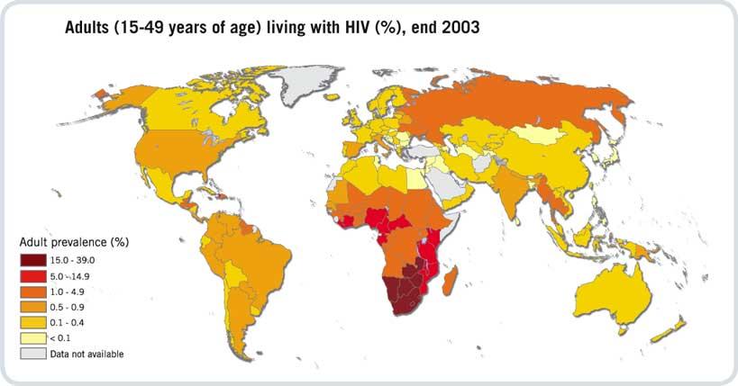 hiv mapa