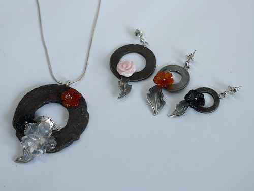 A Flowering - Earrings Trio and Pendants - 3