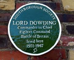Photo of Hugh Dowding green plaque