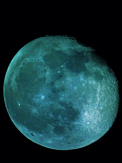 Aqua color moon