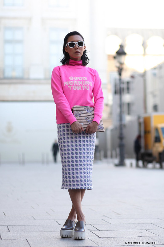 Jeanny Lee at Paris fashion week
