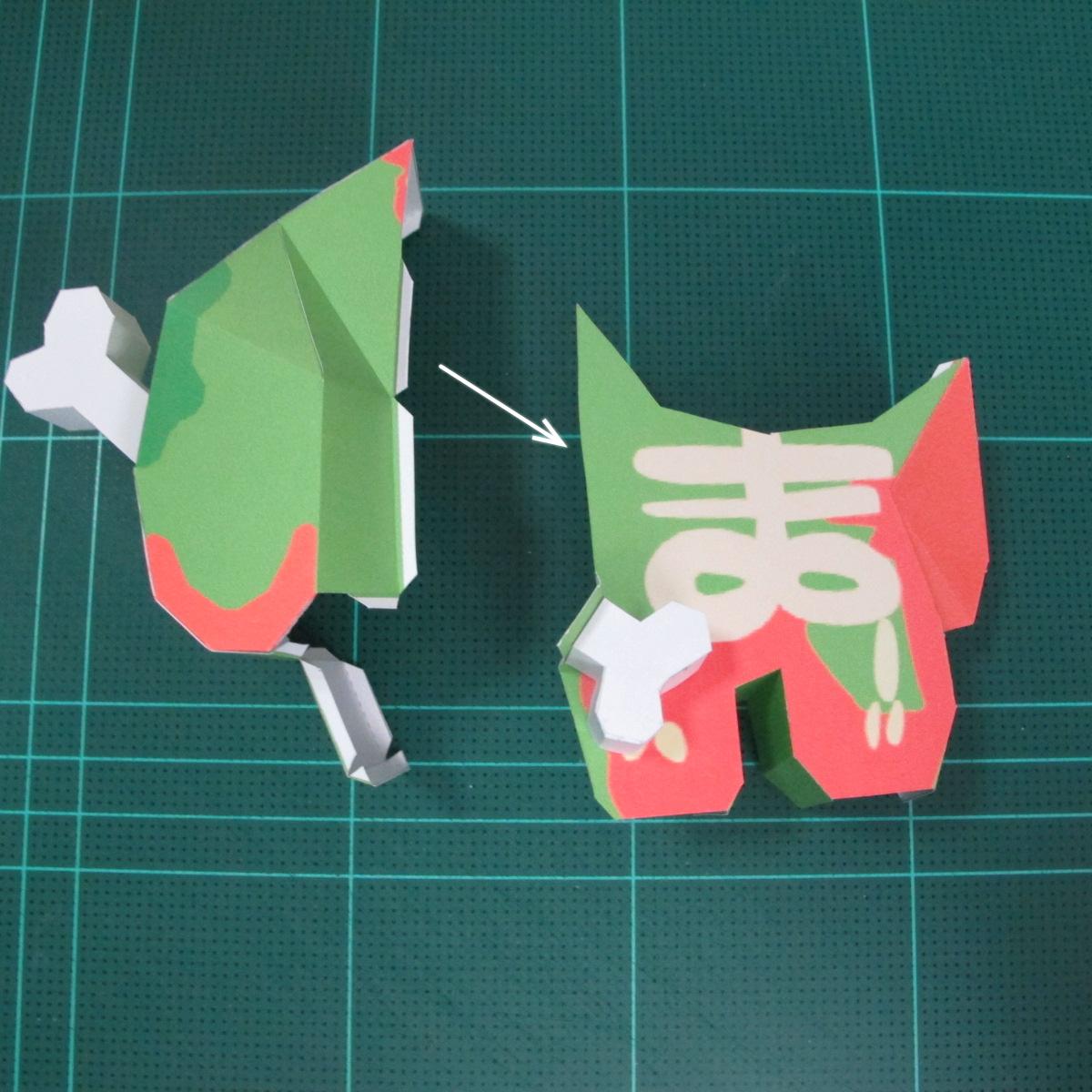 วิธีทำโมเดลกระดาษตุ้กตา คุกกี้ รัน คุกกี้รสซอมบี้ (LINE Cookie Run Zombie Cookie Papercraft Model) 021