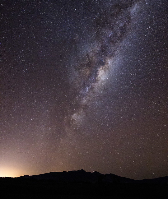milky way above the kaitake range from Flickr via Wylio