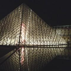The #Lourve at night #Paris
