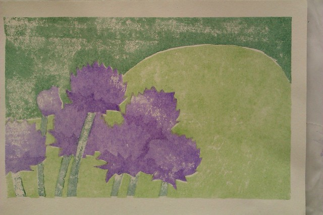 A printed image of chives.