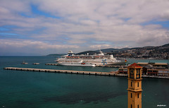 port, ferry, horizon, vehicle, ship, sea, ocean, harbor, dock, vacation, shore, passenger ship, cruise ship, watercraft, pier, coast,