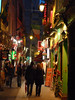 Paris Latin Quarter at night by paulalesliemorrison