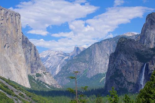 california park travel blue usa mountain tree green nature pentax yosemite