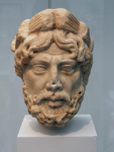 Marble head of Silvanus, 2nd century AD, Staatliche Antikensammlungen, Munich