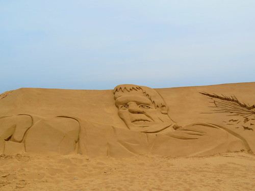 Frankenstein Sand sculpture