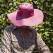 Faceless #2 - Pink Sun Hat by Jill Clardy