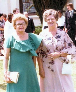 Outside of the Church on Wedding Day 1979