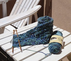 Knitting outside in the Sun