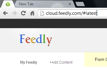 Feedly embeds itself into Chrome