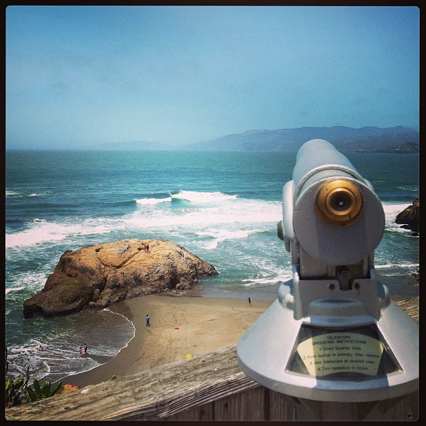 Nature sure is pretty! #beach #sf #viewfinder #ocean #instagood #igdaily #waves