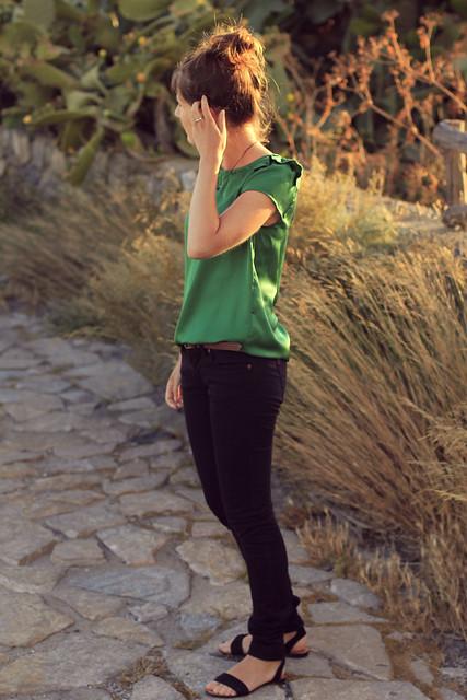 verde y negro