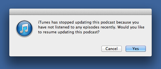 iTunes being helpful