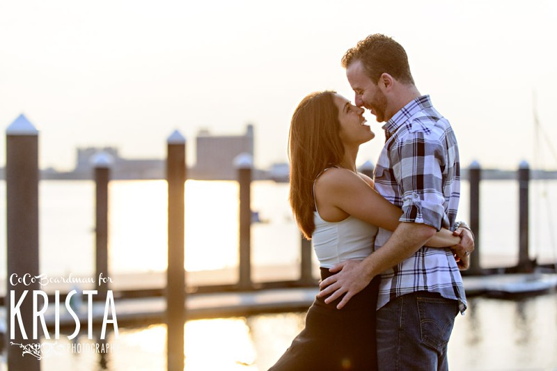 Sunrise on Castle Island (Boston) Engagement Session