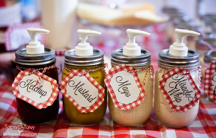 picnic-party-condiment-jars