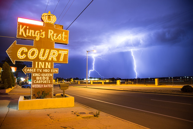 King's Rest Court Inn - Santa Fe, New Mexico U.S.A. - July 25, 2013
