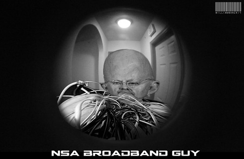 NSA BROADBAND GUY by WilliamBanzai7/Colonel Flick