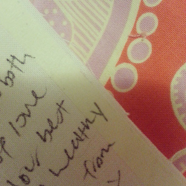 "Is there a more clear way to instruct than ""don't write on the tape it won't be included in the final quilt. "" #comeon"