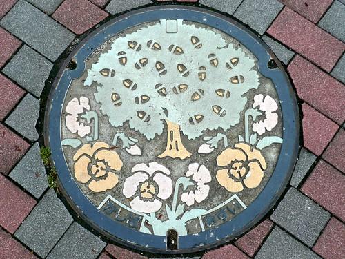 Kashiba Nara , manhole cover (奈良県香芝市のマンホール)