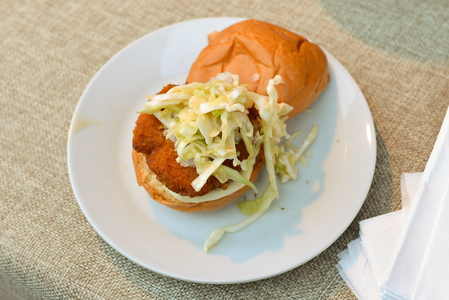 Hamasaku chicken nanban sliders with miso slaw