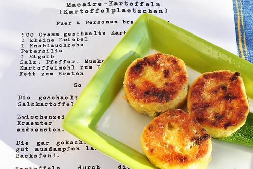 Kartoffel Rezept Macaire Kartoffeln Kräuter Petersilie Kartoffelrezept Kartoffelplätzchen