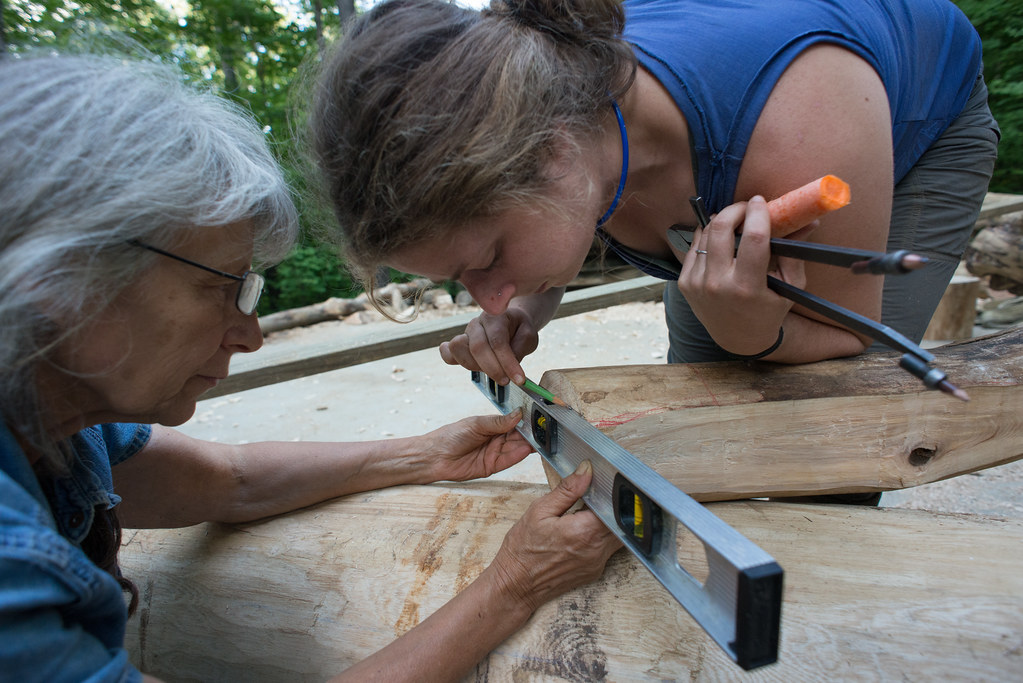 Grindbygg Timber Framing Course: Day Five Evening