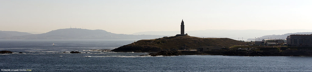 The Tower of Hercules, on the promontory advancing in the Atlantic
