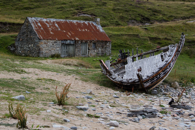 Shipwreck and Farm House - Northern Scotland