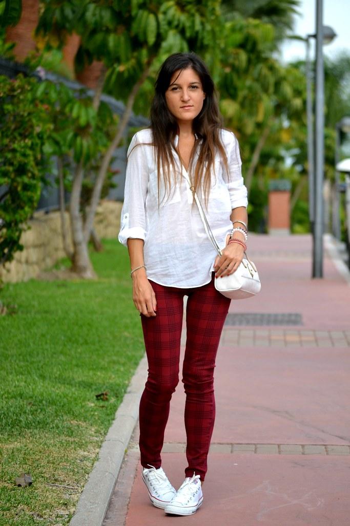 tartan style pants 1
