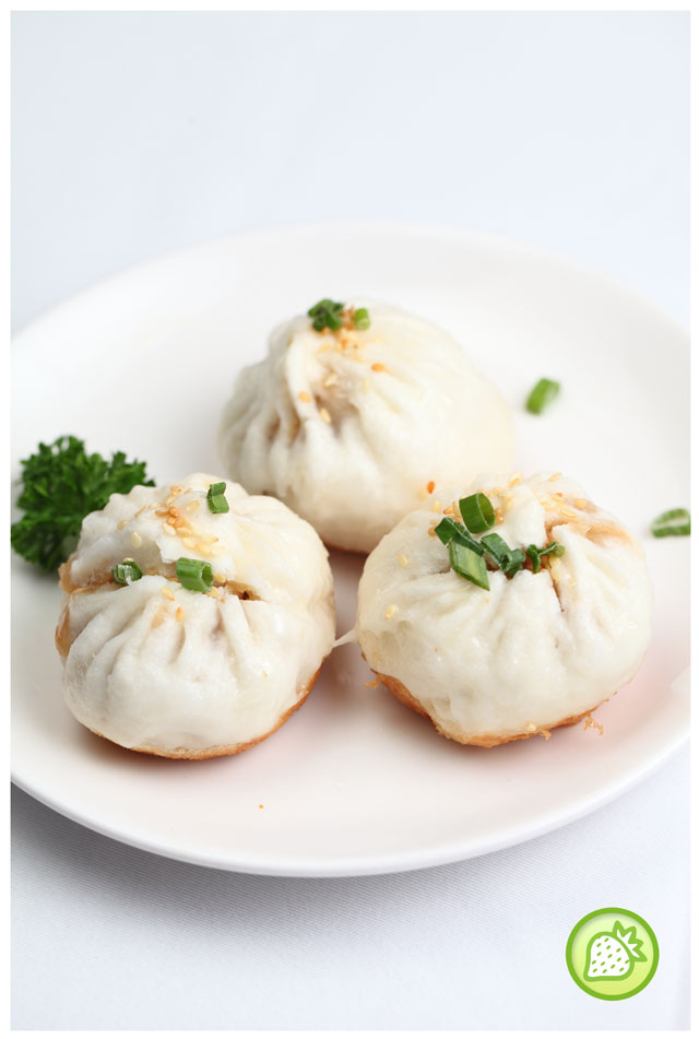 pan fried meat buns