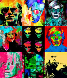 Andy Warhol Portrait-Pop Art Collage_pe