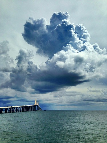 #Cloudporn from North Fishing Pier at Sunshine Skyway Bridge #TampaBay @VSPC @robkochwntv