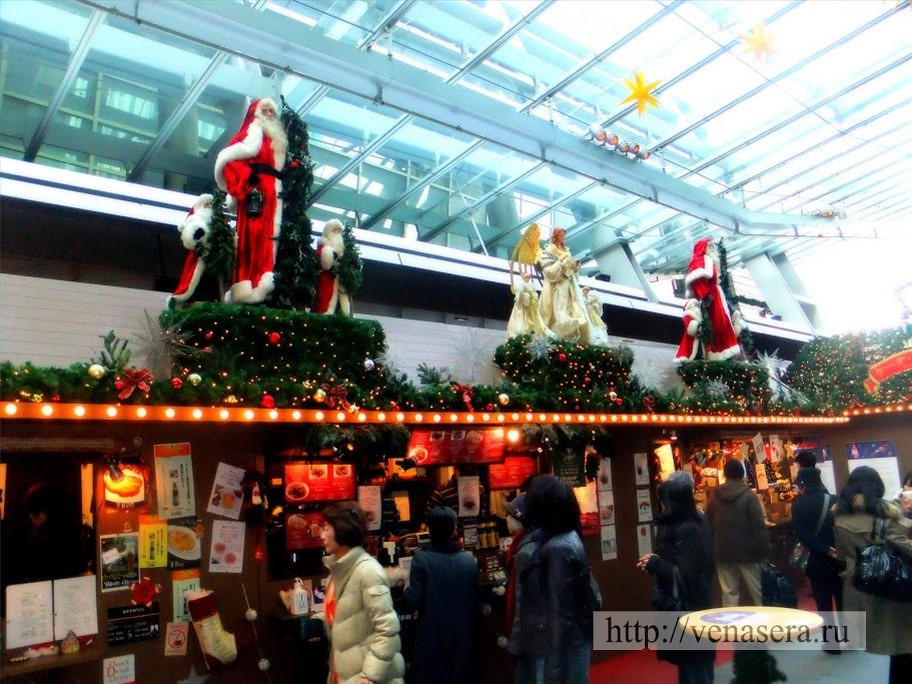 Немецкая ярмарка Weihnachtsmarkt (ヴァイナハツ・マルクト) в Токио