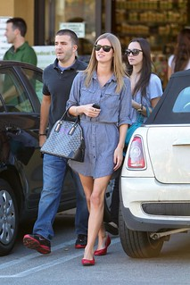 Nicky Hilton Denim Dress Celebrity Style Women's Fashion
