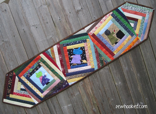 Three Witches Log Cabin Table Runner