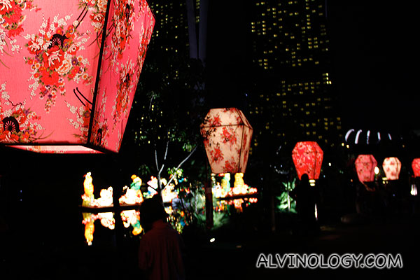Traditional lanterns like these lined the street