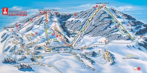 Oberwiesenthal - mapa sjezdovek