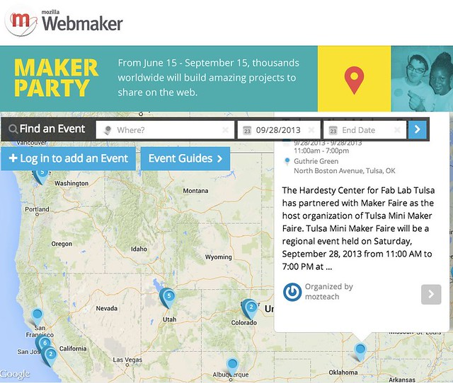 Event Map - Mozilla Webmaker: Tulsa Mini Maker Faire